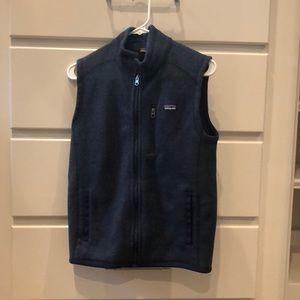 Patagonia Navy Blue Sweater Vest Boys XXL